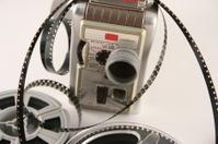 Movie camera with films