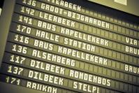 Arrivals departure black board - Train station