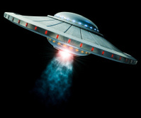 UFO with tractor beam
