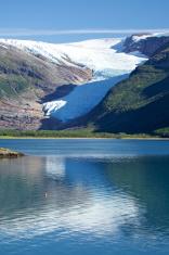Glacier in the fjord