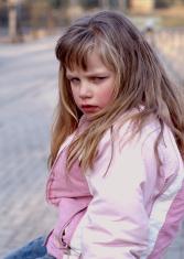Angry girl crying