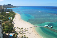 Aerial View of Waikiki Beach, Hawaii