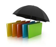 3D folder with umbrella