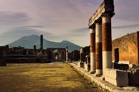 Pompei ruins and Mount Vesuvius