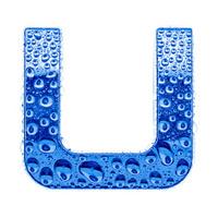 Blue alphabet symbol - letter U