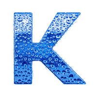 Blue alphabet symbol - letter K