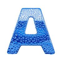Blue alphabet symbol - letter A