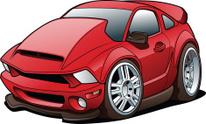 Cartoon Sports Car