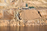 Water treatment plant at copper mine