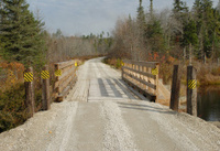 Bridge on a multi-use recreational trail in Maine