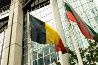 European Parliament in Brussels - National Flag