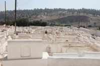 Jewish cemetery and view to landscape in city Fez, Morroco