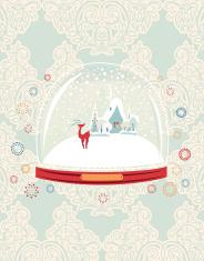 Snow Globe with Winter Village