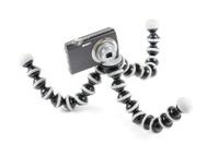 Digital compact camera on flexible tripod