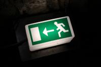 Emergency exit illuminated sign