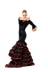 Flamenco dancer in action