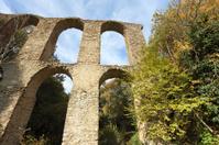 Roman aqueduct in Antica Monterano, Lazio Italy