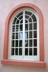 Stucco Building Window