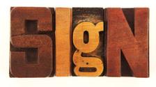 Letterpress - Sign