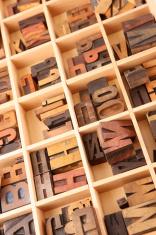 Sorted Letterpress Letters