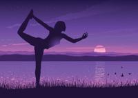 Yoga at a lake