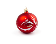 xmas tree decoration red ball isolated