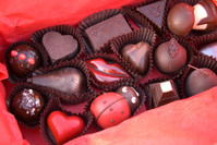 Chocolate Gift Box, Valentine's Day Candy Truffles, Heart & Lips