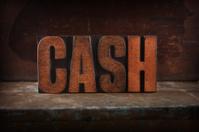 Cash - Letterpress letters