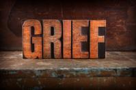 Grief - Letterpress letters