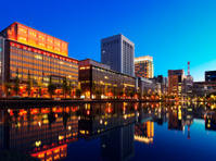 city of tokyo at twilight