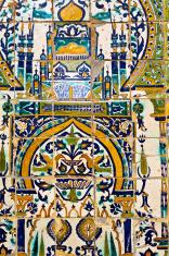 Tunisia, Tunis, tile pattern.