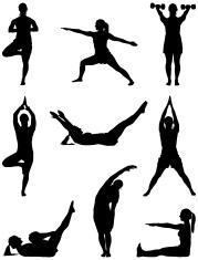Fitness woman doing yoga workout