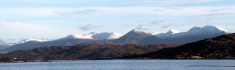 Scottish Highlands Winter Panorama, Arisaig, Morar, Lochaber