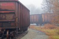 Freight Train in Fog
