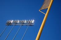 Stadium Lights and Foul Pole