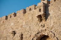 Scarred walls of Jerusalem