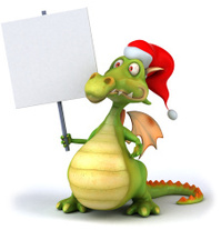 Fun santa dragon