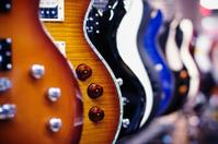 Guitars in a shop