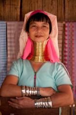 Thailand, long necked woman near Mea Hong Son.
