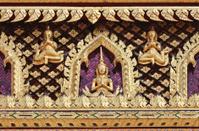 Antique Thai Buddhist temple decoration.
