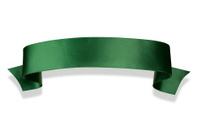 Elegance green ribbon banner