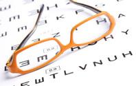 Glasses and eyechart
