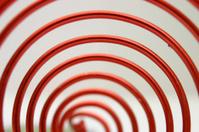 a red spiral