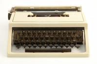 Worn retro typewriter