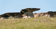 Hoodoo in Alberta badlands