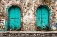 Haiti, Sud Province, Jacmel, doorway.