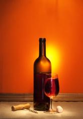 wine and corkscrew