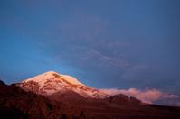 Sunset on the mighty Chimborazo Volcano. Ecuador's highest summi