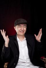 laughing asian man
