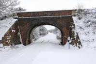 Snow covered railwayline